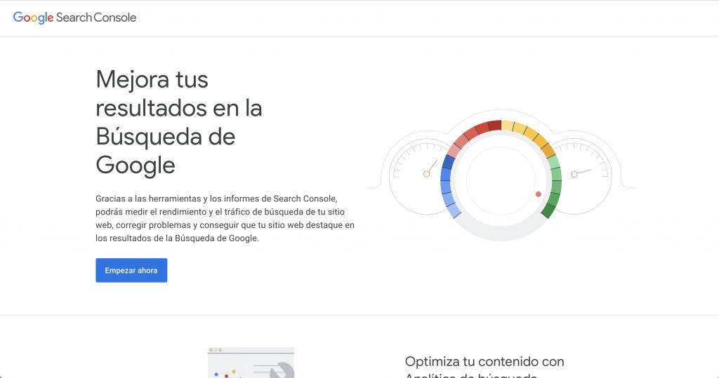 Google Search Console - herramientas SEO gratuitas